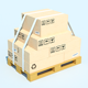 Warehouse Equipment: pallets and racks - 3DOcean Item for Sale