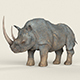 Low poly Realistic Rhino - 3DOcean Item for Sale