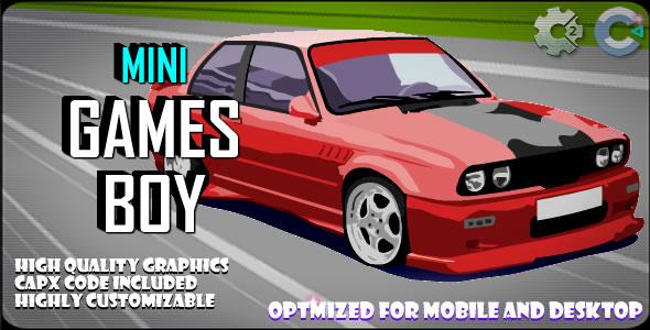Mini Game Boy (C2,C3,HTML5) Game.