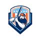 American Baseball Batter Hitter Shield Retro - GraphicRiver Item for Sale