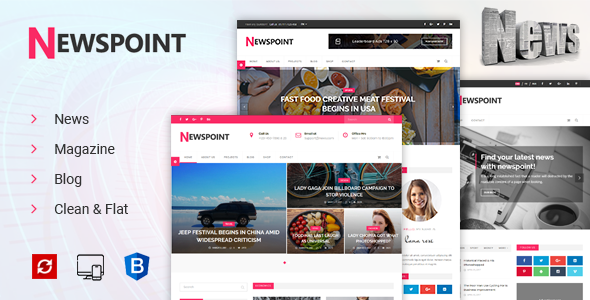 Newspoint – News, Magazine & Blogging HTML Template