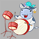 Vector Illustration of a Cartoon Character Cow Music - GraphicRiver Item for Sale