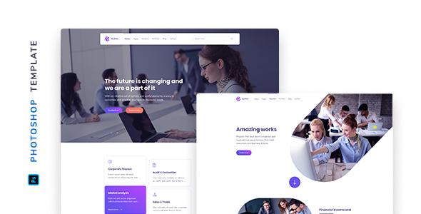 Elipso – Agency Photoshop Template Free Download