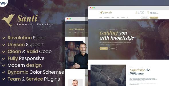 Santi -  Funeral Service WordPress Theme