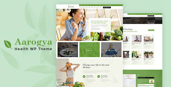Aarogya | Nutrition, Weight Loss Coach Theme