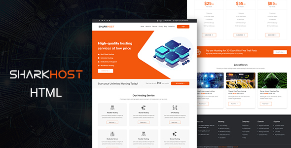 SharkHost - Hosting HTML Template