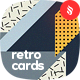 Geometric Retro Cards Tileable Backgrounds - GraphicRiver Item for Sale