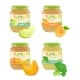 Four Jars with Different Kids Puree - GraphicRiver Item for Sale
