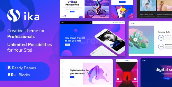 Ika – Portfolio WordPress Theme Free Download