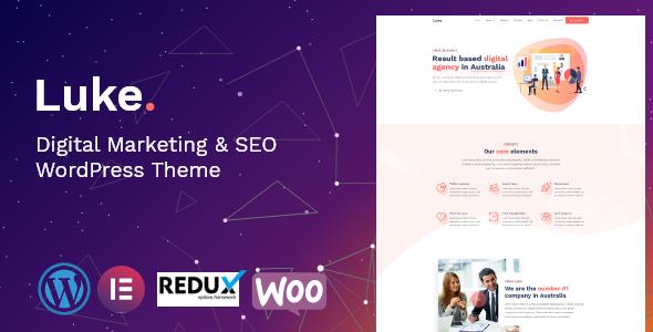 Luke – Digital Marketing and SEO WordPress Theme Free Download