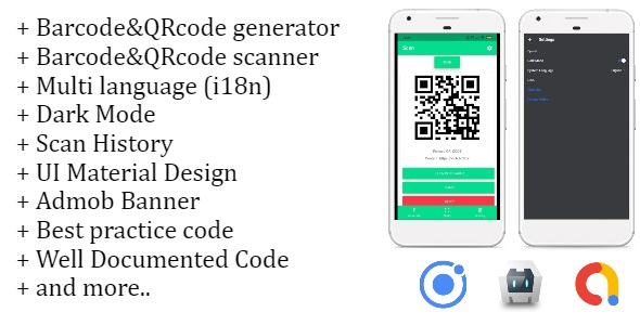Make A Barcode App With Mobile App Templates from CodeCanyon