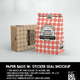 Paper Bags with Sticker Seal Packaging Mockup - GraphicRiver Item for Sale