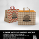 XL Paper Bag with Flat Handles Packaging Mockup - GraphicRiver Item for Sale