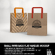 SMALL Paper Bag with Flat Handles Packaging Mockup - GraphicRiver Item for Sale