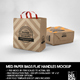MEDIUM Paper Bag with Flat Handles Packaging Mockup - GraphicRiver Item for Sale