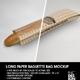 Long Baguette Paper Window Bag Packaging Mockup - GraphicRiver Item for Sale