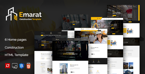 Emarat - Construction and Architecture HTML Template