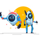 Two Game Style Robots - GraphicRiver Item for Sale