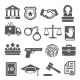 Law Icons Set on White Background - GraphicRiver Item for Sale