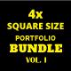 Square Portfolio / Catalogue Bundle Vol. 1 - GraphicRiver Item for Sale