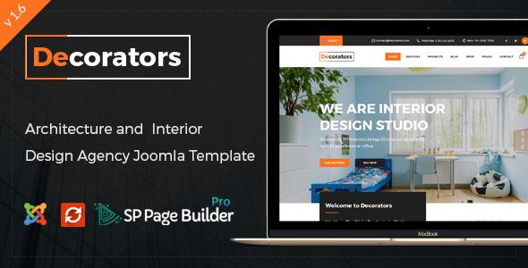 Decorators - Joomla Template for Architecture & Modern Interior Design Studio
