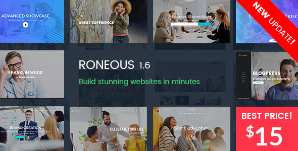 Roneous - Creative Multi-Purpose WordPress Theme