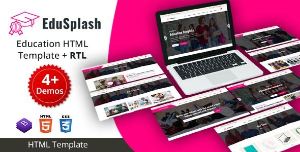 EduSplash - Education HTML Template