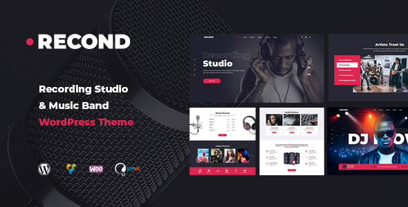 Recond - Recording Studio & Music Band WordPress Theme