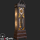 Retro Vintage Grandfather Clock PBR - 3DOcean Item for Sale