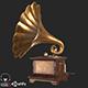 Old Antique Gramophone PBR - 3DOcean Item for Sale
