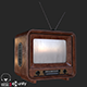 Old Antique TV PBR - 3DOcean Item for Sale