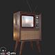 Retro Vintage Television PBR - 3DOcean Item for Sale