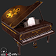 Old Antique Grand Piano PBR - 3DOcean Item for Sale