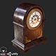 Retro Vintage Table Clock PBR - 3DOcean Item for Sale