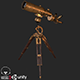 Old Antique Telescope PBR - 3DOcean Item for Sale