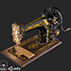 Old Antique Sewing Machine PBR - 3DOcean Item for Sale