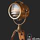 Old Antique Spotlight PBR - 3DOcean Item for Sale