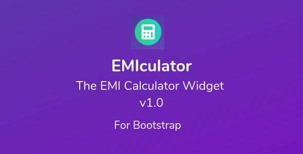 EMIculator - The EMI Calculator Widget Download
