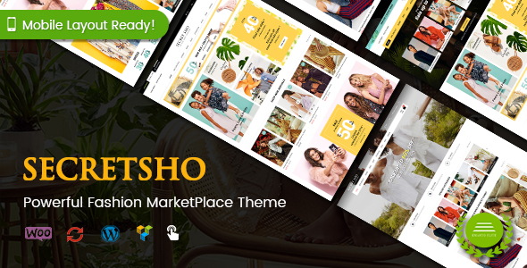 SecretSho - Fashion Shop WordPress WooCommerce MarketPlace Theme (Mobile Layout Included)