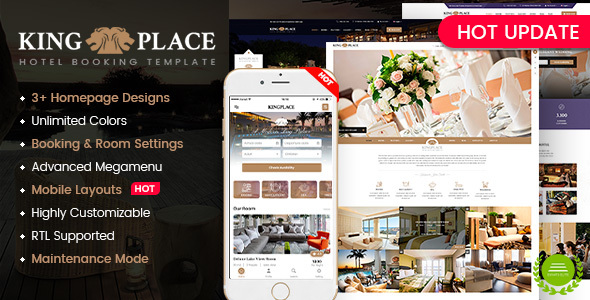 KingPlace - Hotel Booking, Spa & Resort WordPress Theme (Mobile Layout Ready)