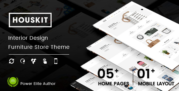 Houskit - Interior Design & Furniture Store WordPress Theme (Mobile Layout Ready)