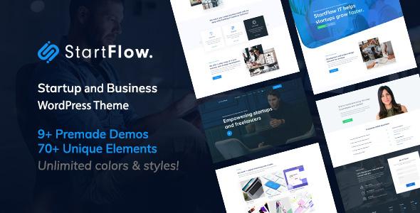 Start Flow – Startup and Creative Multipurpose WordPress Theme Free Download