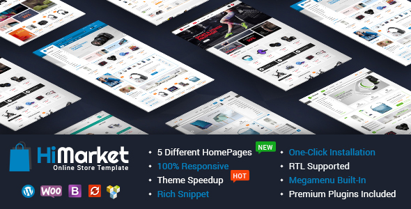 HiMarket - Electronics Store/Medical/Sport Shop WooCommerce WordPress Theme