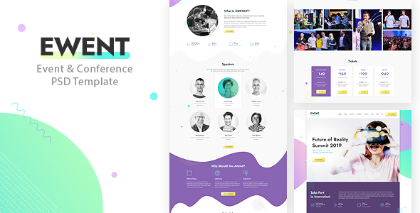 Ewent - Event & Conference PSD Template