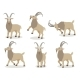 Set of Goat in Different Poses in Flat Style - GraphicRiver Item for Sale