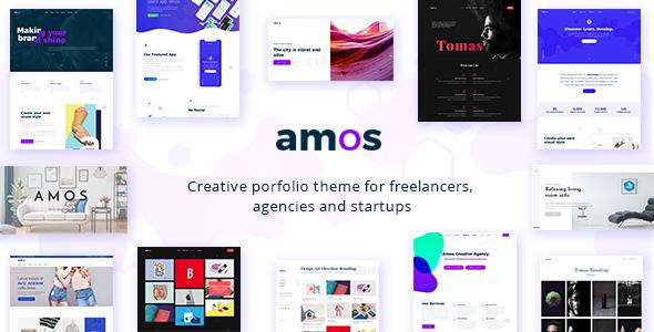Amos - Creative WordPress Theme for Agencies & Freelancers
