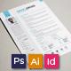 Resume/CV - Square - GraphicRiver Item for Sale