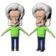 Albert Einstein Cartoon Caricature - 3DOcean Item for Sale