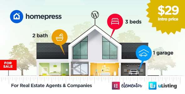 HomePress – Real Estate WordPress Theme Free Download