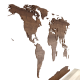 world map decor - 3DOcean Item for Sale